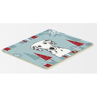 Winter Holiday Dalmatian Kitchen or Bath Mat 20x30