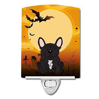 Halloween French Bulldog Brindle Ceramic Night Light