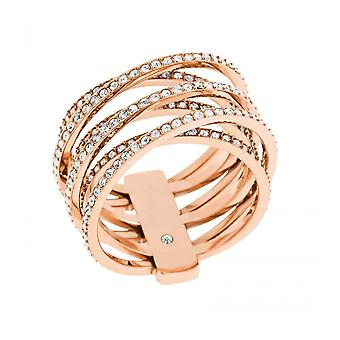 MICHAEL KORS BRILLIANCE ROSE GOLD RING
