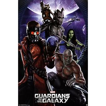 Marvel Guardians of the Galaxy - Group Poster Poster Print