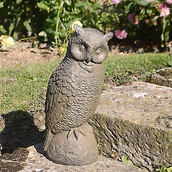 Solstice Sculptures Owl Rust Effect Statue