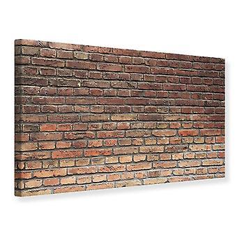 Canvas Print Brown Brick Wall