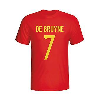 Kevin De Bruyne Belgien Hero T-shirt (rød) - børn