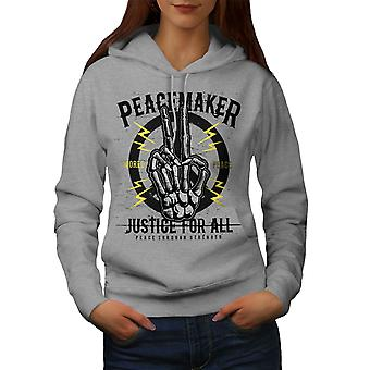 Peace Justice All Horror Women GreyHoodie | Wellcoda