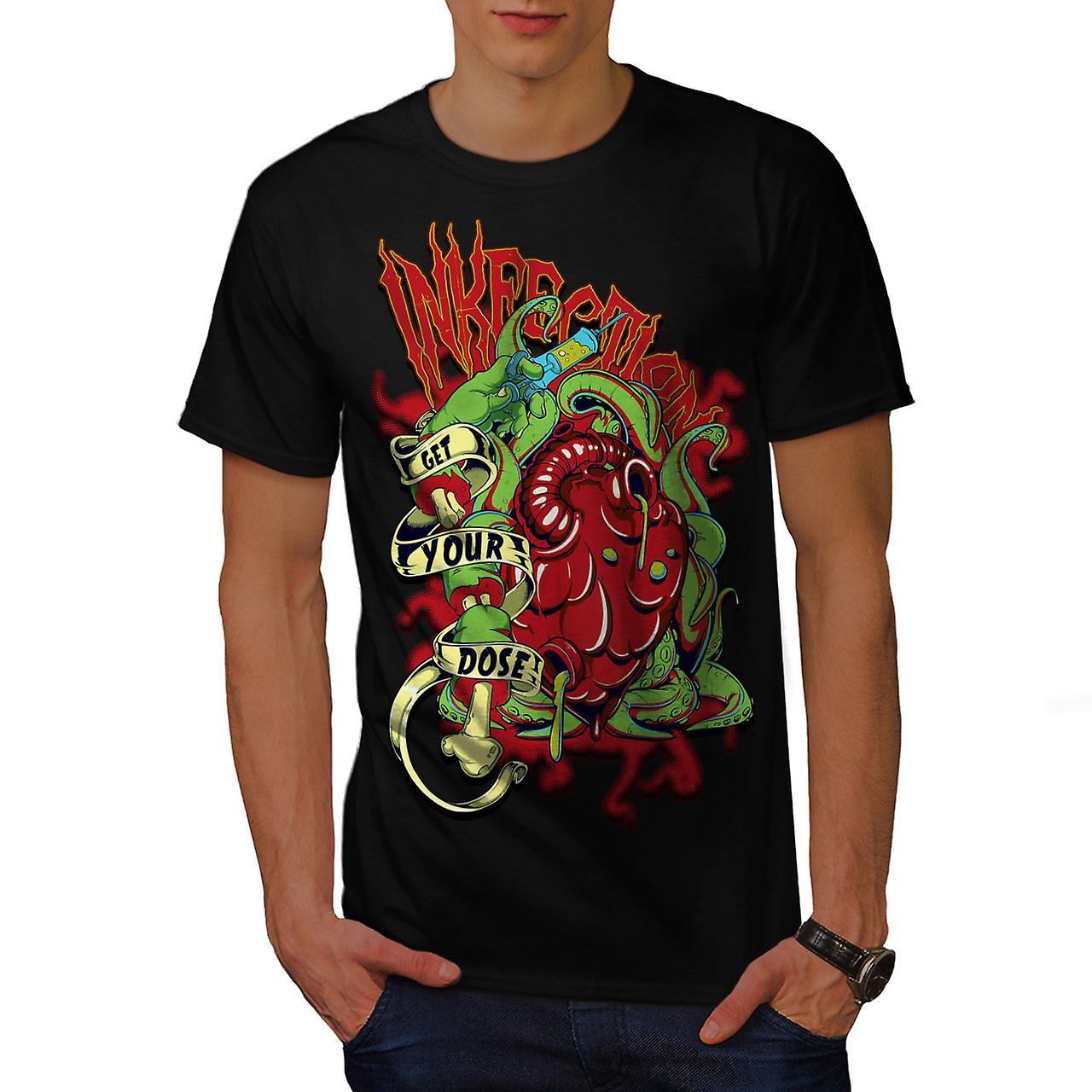 Get Your Dose Dead Horror Men Black T-shirt | Wellcoda