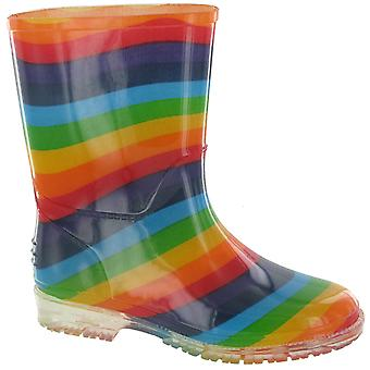 Cotswold PVC Kids Rainbow Welly / Girls Boots