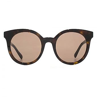 Stella McCartney Falabella Round Cateye Sunglasses In Tortoiseshell