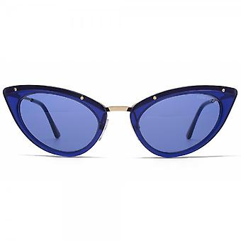 Tom Ford Grace zonnebril In glanzende blauw