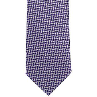 Michelsons of London Bright Puppytooth Polyester Tie - Purple