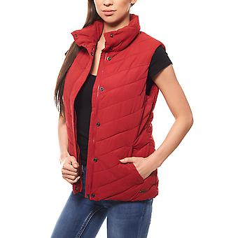 Lee Vest Jacket Women's jacket red with stand up collar