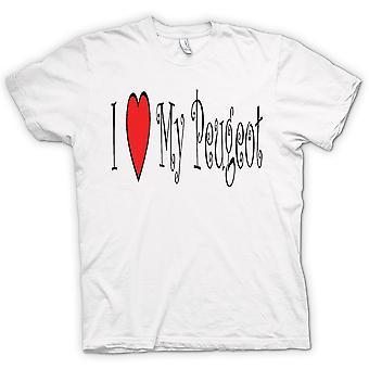 Womens T-shirt - I Love My Peugeot - Fun Car