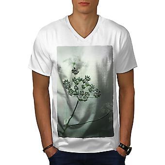 Flower Plant Photo Men WhiteV-Neck T-shirt   Wellcoda