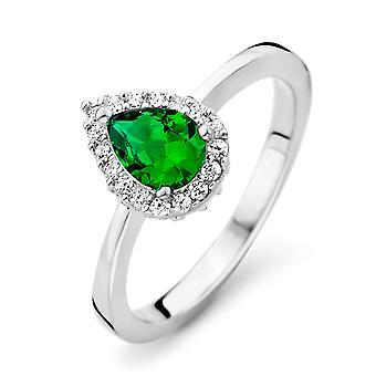 Orphelia Silver 925 Ring Drop Emerald Color  Zirconium   ZR-7226/EM