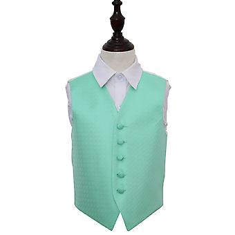 Mint Green Greek Key Wedding Waistcoat for Boys