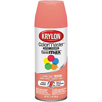 Colormaster Indoor/Outdoor Aerosol Paint 12oz-Gloss Coral Isle