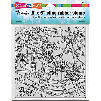 Stampendous Cling Stamps-Paris Map