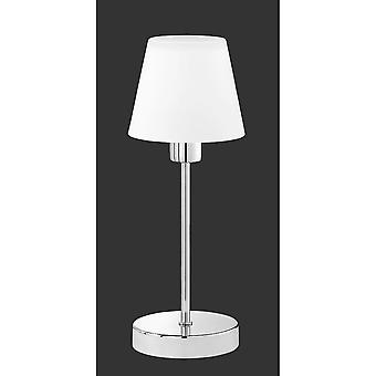 إضاءة مصباح طاولة معدنية كروم الحديثة لويس تريو