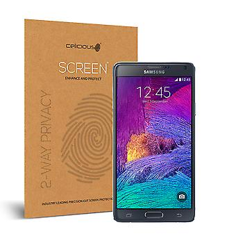 Celicious Privacy 2-Way Visual Black Out Screen Protector for Samsung Galaxy Note 4