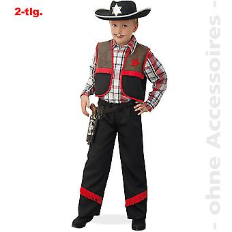 Traje niño vaquero disfraz los niños vaquero Ranger Revolerheld