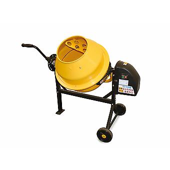 Charles Bentley 63L 230V 220W Diy Portable Cement Concrete Sand Mixer With Wheels UK PLUG