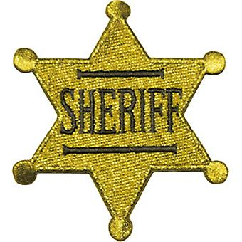 Sheriff Badge Embroidered Iron-On/Sew-On Cloth Patch