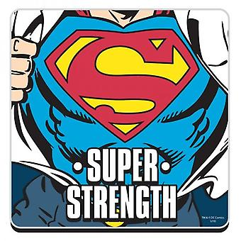 Superman Super Strength Funny Cork Backed Drinks Mat / Coaster