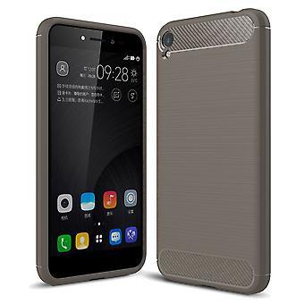 ASUS Zenfone ao vivo ZB501KL TPU caso carbono fibra óptica escovada cinza de capa de proteção