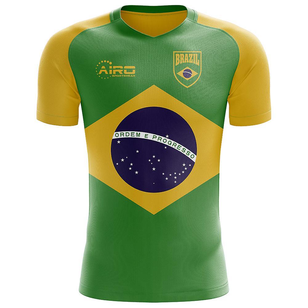 2018-2019 Brésil drapeau Concept maillot de foot