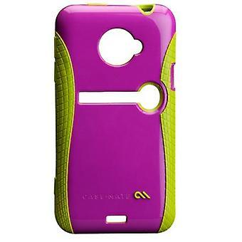 ¡Case-Mate Pop! Caso con soporte para HTC EVO 4G LTE (frambuesa/Lima)