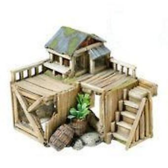 Classic For Pets Wooden House/Plants 170mm (Fish , Decoration , Ornaments)