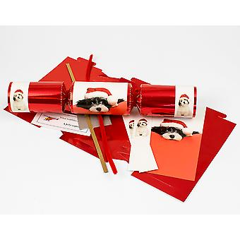 Single Cute Christmas Puppy Make & Fill Your Own Cracker Kit for Dog Lovers