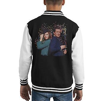TV Times Avengers Diana Rigg And Patrick Macnee Kid's Varsity Jacket