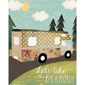 Backroads Poster Print by Katie Doucette