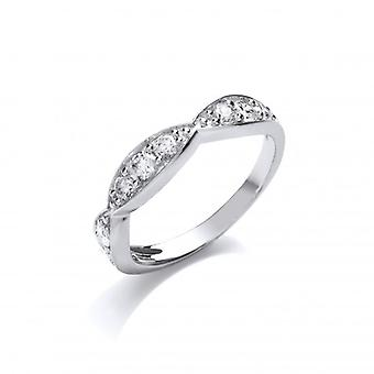 Cavendish French Silver and Cubic Zirconia Sweetie Band Ring
