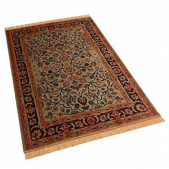 Green Afghan Ziegler Artificial Silk Rugs 5663/16 140 x 200cm