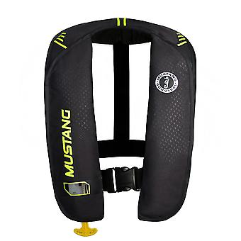 Mustang MIT 100 Inflatable Automatic PFD - Black/Flourescent Yellow-Green