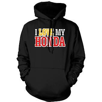 Felpa con cappuccio uomo - Amo la mia Honda - appassionato di auto