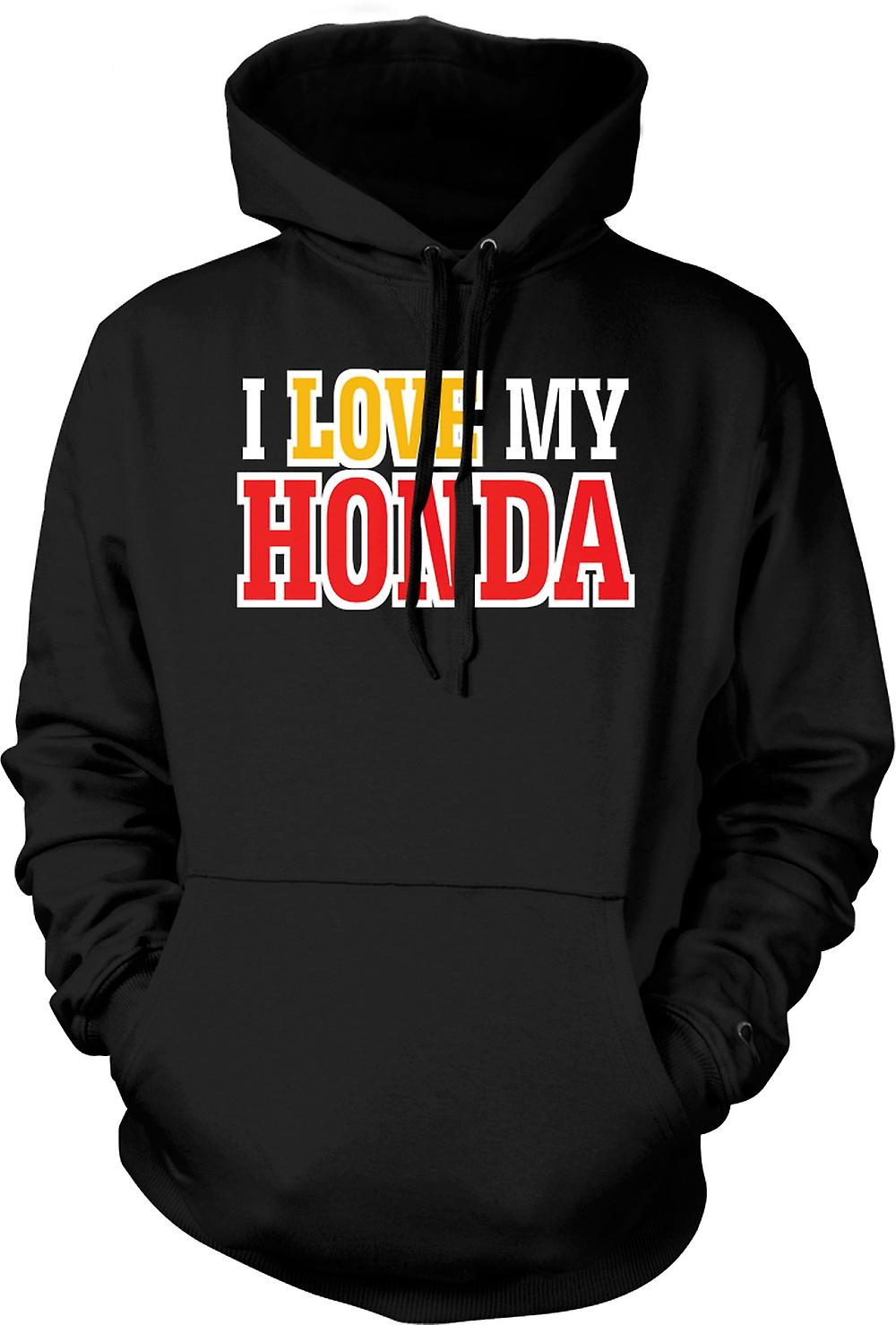 Kids Hoodie - I Love My Honda - Car Enthusiast