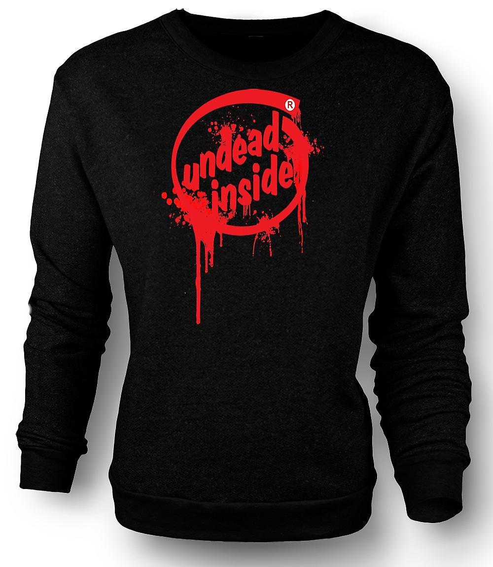 Mens Sweatshirt odöda inne - Zombie - Funny