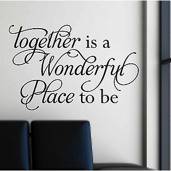 Together wall quote sticker