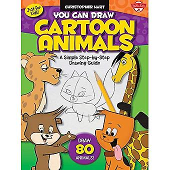 You Can Draw Cartoon Animals: A Simple Step-by-Step Drawing Guide! (Just for Kids!)
