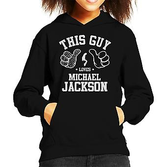 This Guy Loves Michael Jackson Kid's Hooded Sweatshirt