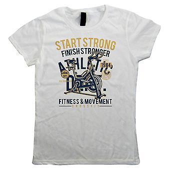 Start sterke, kvinner T-skjorte