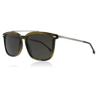 Hugo Boss BOSS 0930/S T6VIR Khaki / Havana BOSS 0930/S Square Sunglasses Lens Category 3 Size 55mm