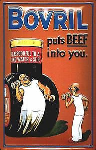 Bovril Puts Beef Into You embossed Steel Sign   (hi 3020)
