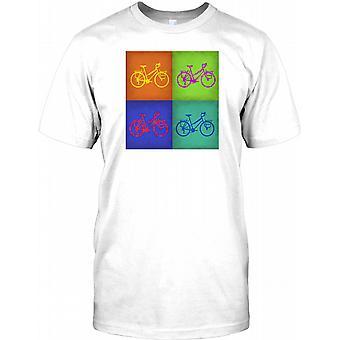 Vintage Bicycle Pop Art Design Mens T Shirt