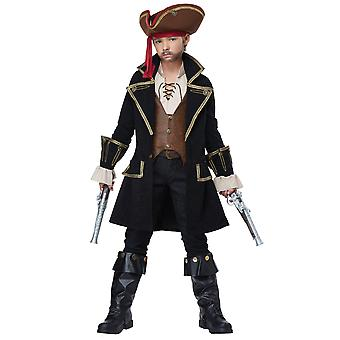Deluxe Pirate Captain Cutthroat Jack Sparrow Carribbean Book Week Boys Costume