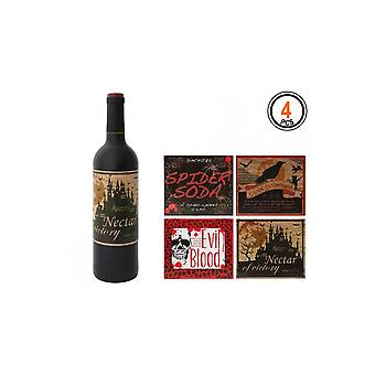 Halloween and horror  Wine bottle Labels