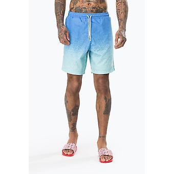 Hype Blue speckle fade menn Swim shorts