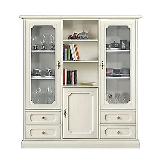 Classic lacquered showcase with drawers and shelves